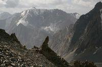 Вид с перевала Акташ в сторону долины реки Арчаканыш.