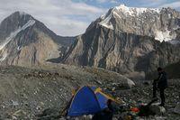 Вид от лагеря на Дугобе Южной в долину Арчаканыша.