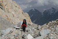 На краю ледника Егорова.