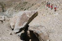 Каменная пробка в каньоне реки Кек-Суу.