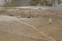 Лагерь строителей в долине реки Кек-Суу.