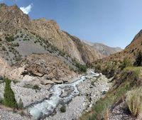 В каньоне реки Арча-баши.