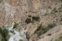 Дорога в каньоне реки Арча-баши.