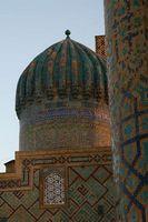 Путешествие по Узбекистану. Закатные купола Самарканда. Регистан.